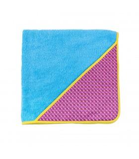 Mandy Turquoise blue Bath Cape Towel