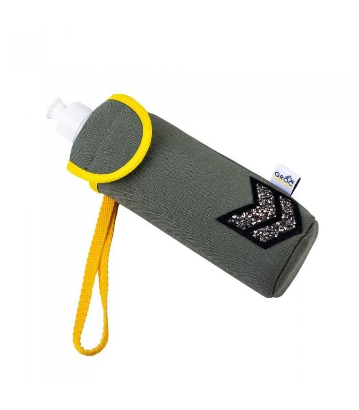 Khaki Bottle cover Bowipi with Military Badge