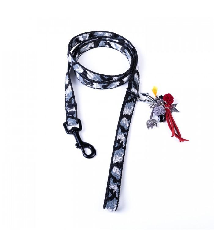 Grey Camouflage Lucky Dog Leash
