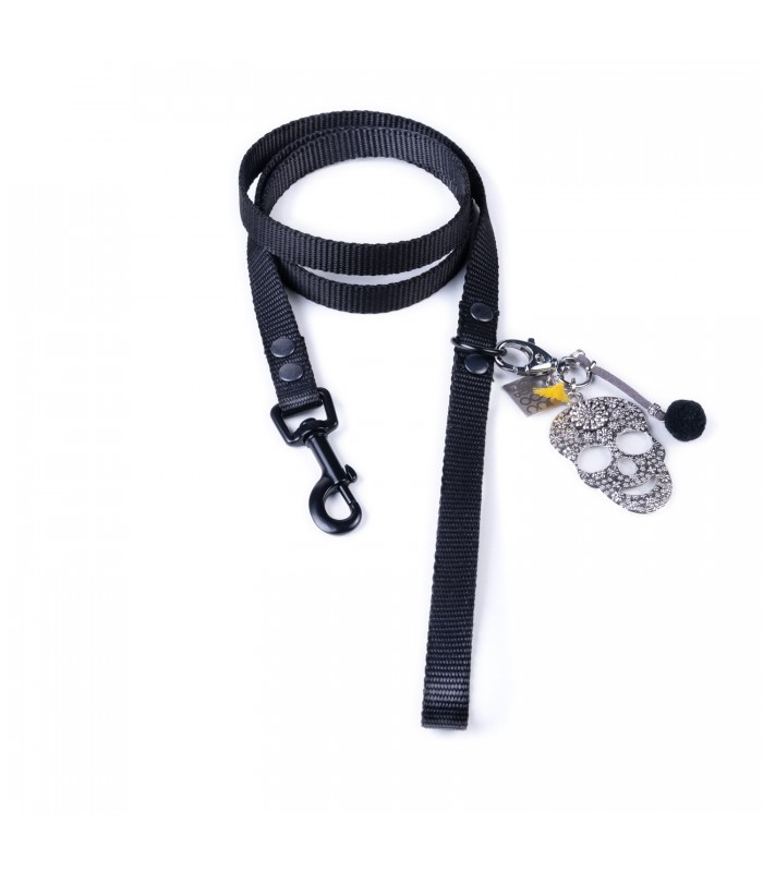 Total Black Lucky Dog Leash
