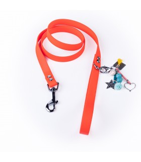 Coral red Lucky Dog Leash