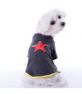 Nun Star Dark Grey Dog T-shirt